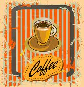 coffee poster in retro style