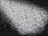 tile floor with lightening effect