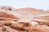 image of valley fire  - the wave feature sandstone desert landscape in Valley of Fire State Park in Nevada