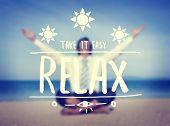 Businessman Getaway Relax Text Holiday Beach Concept
