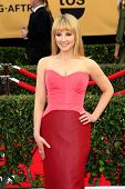 LOS ANGELES - JAN 25:  Melissa Rauch at the 2015 Screen Actor Guild Awards at the Shrine Auditorium on January 25, 2015 in Los Angeles, CA