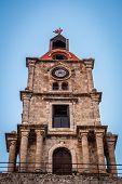 Roloi Clock Tower, Rhodes Island, Greece