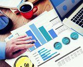Businessman Marketing Strategy Design Ideas Working Concept