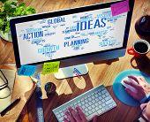 Businessman Planning Computer Vision Creativity Ideas Concept