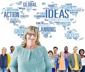 Global People Togetherness Team Creativity Ideas Concept
