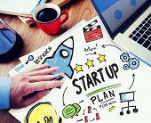 Start Up Business Launch Success Office Working Concept