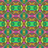 geometry vintage pattern, ethnic style ornamental background