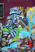Street art Montreal robot
