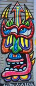 Street art Montreal mask