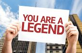 You are a Legend card with a urban background