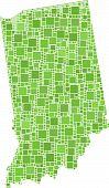 Karte von Indiana (Usa)