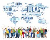 Global People Celebration Success Creativity Ideas Concept