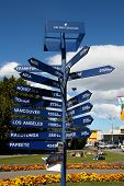 New Zealand Distance Sign
