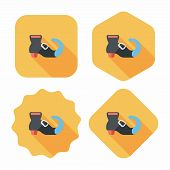 Witch's Boots Flat Icon With Long Shadow,eps10