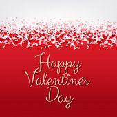 Happy Valentines Day Frame, Vector Illustration
