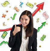 Finance growth businesswoman