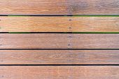 Old Plank Wood Bridge Floor