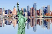 New York City Skyline Over The Hudson River
