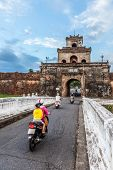 The palace gate, Imperial Palace moat, Vietnam