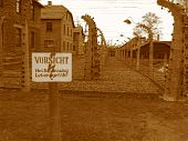 foto of nazi  - Auschwitz Poland - JPG