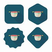 Kitchenware Water Filters Flat Icon With Long Shadow,eps10