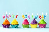 picture of cupcakes  - Happy birthday cupcakes - JPG