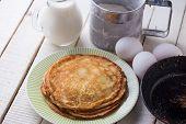 Pancakes. Ingredients For Pancakes.
