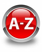 A to Z Glossy Red Round Button