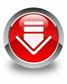 Download Icon Glossy Red Round Button