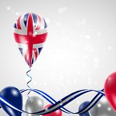 UK flag on balloon