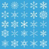 pic of x-files  - Christmas white snowflakes on the blue background - JPG