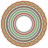 set of round geometrical frames, circle border ornament