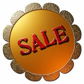 Sale (Golden Seal Red Lettering)