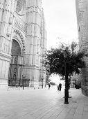 Street outside the cathedral La Seu