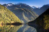 Mirror Lake At Jiuzhaigou Scenic Area