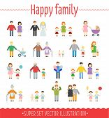 Family Vector Set Infographics.