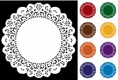 Lace Doily Place Mats, Jewel tones