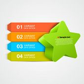 Vector green star Infographics concept.
