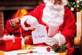 Santa At Work.