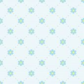 Seamless pattern with forgetmenots