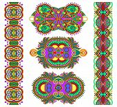 stock photo of adornment  - ornamental ethnic decorative floral adornment - JPG