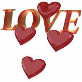 Three-dimensional Inscription Love