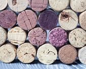 Wine Corks Collection. Colorful Wine Corks. Macro View. Closeup. Texture. (soft Focus)