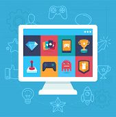 Vector Online And Mobile Game Icons