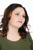 Beauty Pudgy Girl Portrait