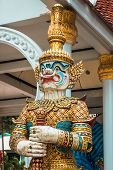 Thai Giant Statues, Giant Symbol In Thai Temple