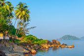 The Sunrise And Beautiful Tropical Landscape