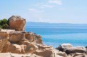 Detail from beautiful Karidi beach on the east coast of Sithonia, Greece