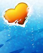 Valentine Heart On Blue Background