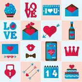 Valentine flat icon, vector illustration